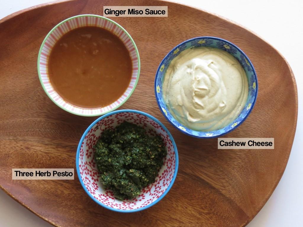 three sauces